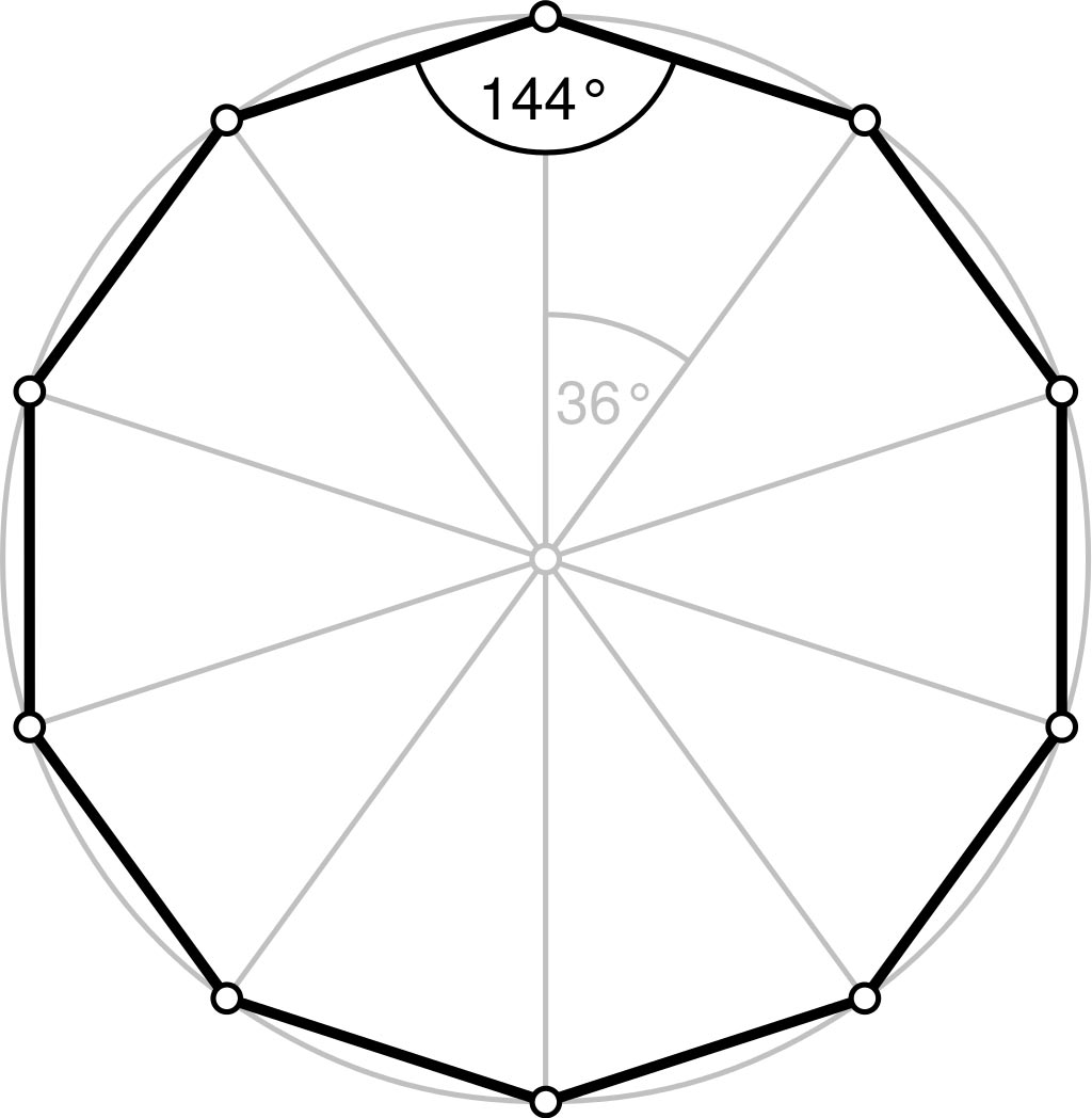 Decagon sides shapes angles video definition - What is the exterior angle of a decagon ...