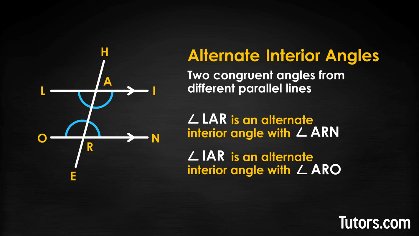 Alternate Interior Angles (Definition, Theorem, Examples, Video)