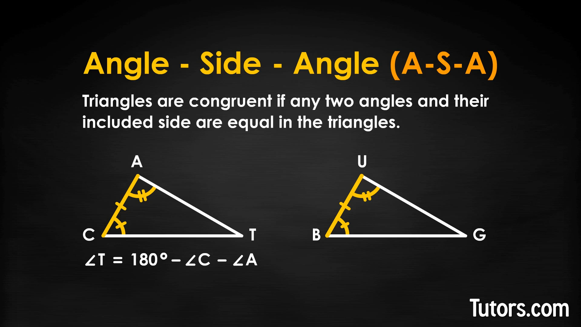 Triangle Congruence Theorems Sas Asa Sss Postulates Video