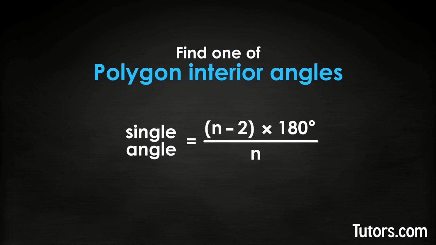 Sum of Interior & Exterior Angles (Polygons, Pentagon) \/\/ Tutors.com